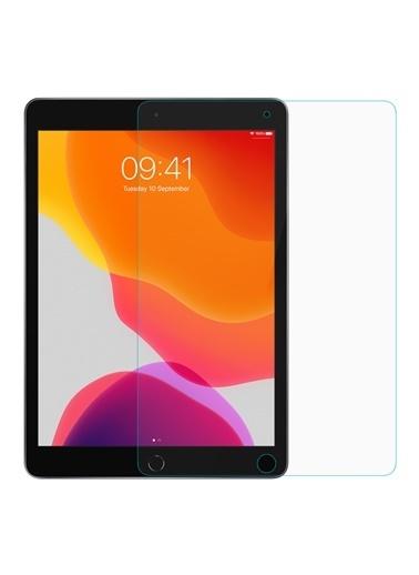 Microsonic Apple iPad 10.2'' 7. Nesil (A2197-A2200-A2198) Temperli Cam Ekran Koruyucu Renksiz